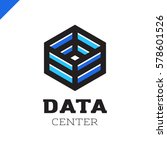 big data cube and technology... | Shutterstock .eps vector #578601526