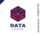 big data cube and technology... | Shutterstock .eps vector #578601703