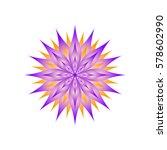 bright flower on a white... | Shutterstock .eps vector #578602990