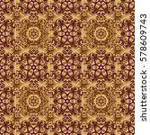 luxury gold seamless pattern... | Shutterstock .eps vector #578609743