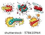 collection of nine wording... | Shutterstock .eps vector #578610964