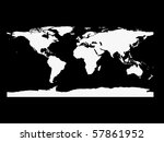 world map in white and black - stock photo