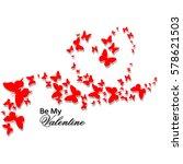 valentine's day. romantic card...   Shutterstock .eps vector #578621503