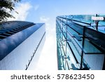 modern glass office building in ... | Shutterstock . vector #578623450