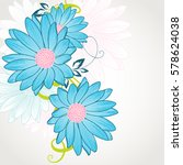 floral pattern with flower... | Shutterstock .eps vector #578624038