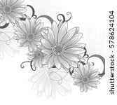 floral pattern with flower... | Shutterstock .eps vector #578624104