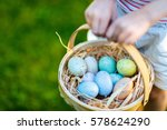 close up of colorful easter... | Shutterstock . vector #578624290