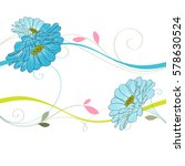 abstract floral background.... | Shutterstock .eps vector #578630524