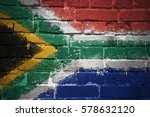 colorful painted national flag... | Shutterstock . vector #578632120