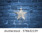 colorful painted national flag... | Shutterstock . vector #578632159
