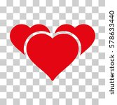 favourite hearts icon. vector... | Shutterstock .eps vector #578633440