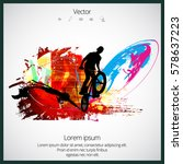 silhouette of bmx rider | Shutterstock .eps vector #578637223
