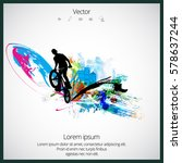 silhouette of bmx rider | Shutterstock .eps vector #578637244