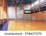 interior of a tennis hall   Shutterstock . vector #578637370