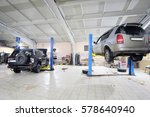 cars in car repair station | Shutterstock . vector #578640940