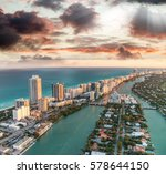 aerial view of miami beach at... | Shutterstock . vector #578644150