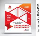 promo banner roll up design ... | Shutterstock .eps vector #578644708