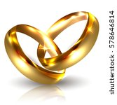 two golden wedding rings... | Shutterstock .eps vector #578646814