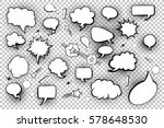 blank speech bubbles. set of... | Shutterstock .eps vector #578648530