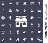 restaurant icon. restaurant set ... | Shutterstock .eps vector #578648860
