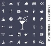 Cocktail Icon. Restaurant Set...