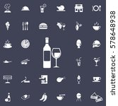 bottle of wine and glass icon.... | Shutterstock .eps vector #578648938
