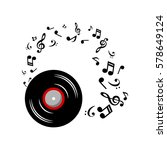 Music Notes With Music Plate O...