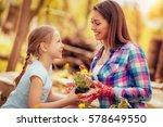 cute smiling little girl... | Shutterstock . vector #578649550