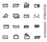 mail email icon set vector   Shutterstock .eps vector #578651536