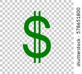 united states dollar sign. dark ... | Shutterstock .eps vector #578651800
