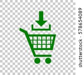 add to shopping cart sign. dark ...