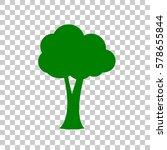 tree sign illustration. dark... | Shutterstock .eps vector #578655844
