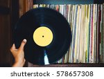 old vinyl record and a...   Shutterstock . vector #578657308