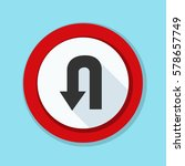 u turn roadsign sign... | Shutterstock .eps vector #578657749