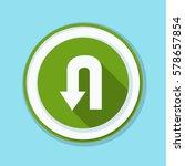 u turn roadsign sign... | Shutterstock .eps vector #578657854