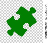 puzzle piece sign. dark green...