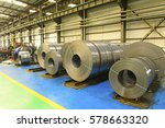 many cold rolled steel strip in ... | Shutterstock . vector #578663320