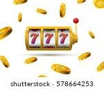 slot machine lucky sevens... | Shutterstock .eps vector #578664253