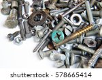 a lot of screws and nuts on a... | Shutterstock . vector #578665414