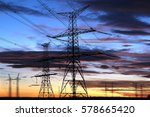 silhouette of electricity... | Shutterstock . vector #578665420