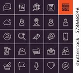 media and communication icons.... | Shutterstock .eps vector #578668246
