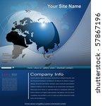 business website template ... | Shutterstock .eps vector #57867196
