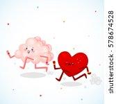 brain vs heart  logic and feel  ... | Shutterstock .eps vector #578674528