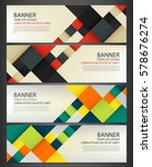 business banner with colorful... | Shutterstock .eps vector #578676274