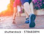 marathon run shoe. outdoor... | Shutterstock . vector #578683894