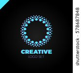 clever and creative  dots or... | Shutterstock .eps vector #578687848