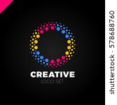 clever and creative  dots or... | Shutterstock .eps vector #578688760