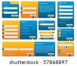 various blue and orange website ... | Shutterstock .eps vector #57868897