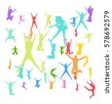 united colleagues bright idea  | Shutterstock .eps vector #578692579
