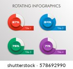 rotating vector circle business ... | Shutterstock .eps vector #578692990